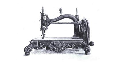 Symaskine tegning blyant