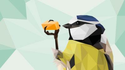 fugl geometrisk