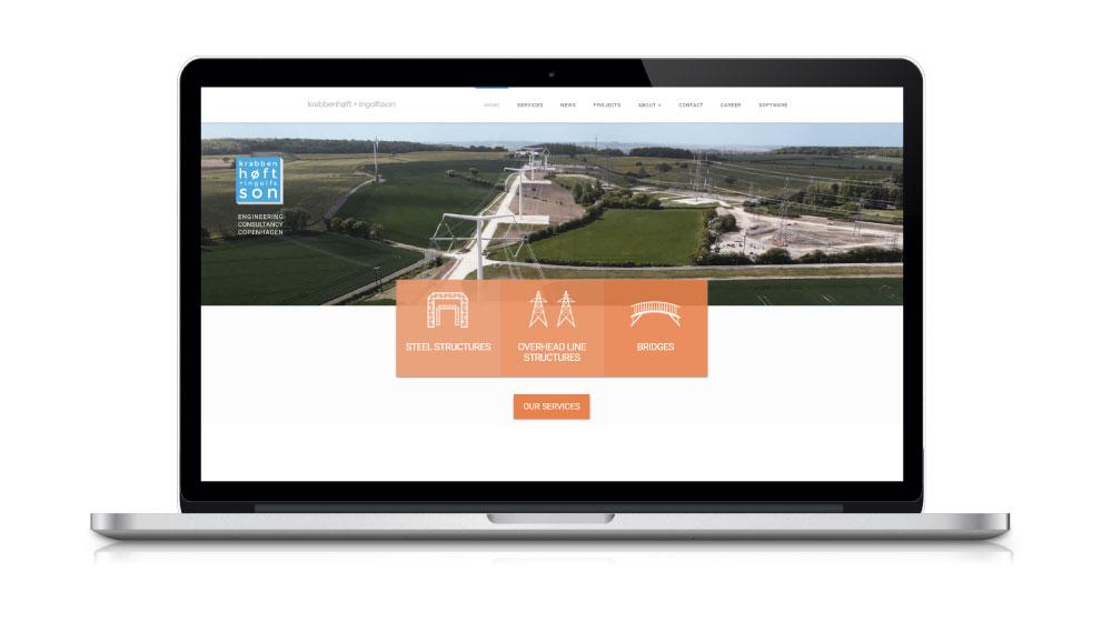 krabbenhøft & ingolfsson hjemmeside design