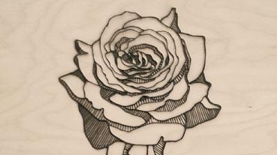 laserskåret rose akryl